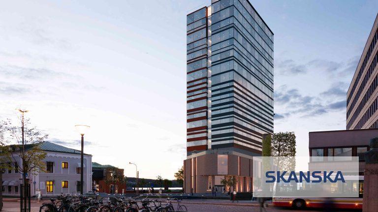 Skanska. Utvecklingsprojekt hotell i Jönköping.